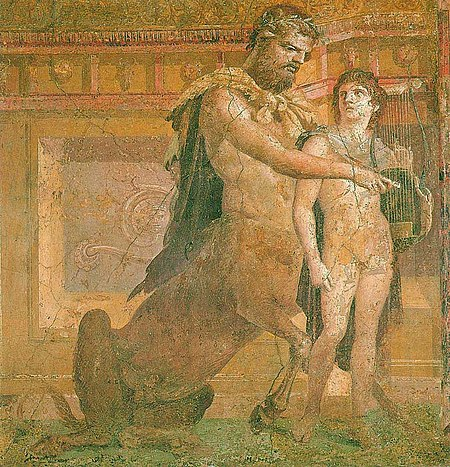 450px-Chiron_instructs_young_Achilles_-_Ancient_Roman_fresco