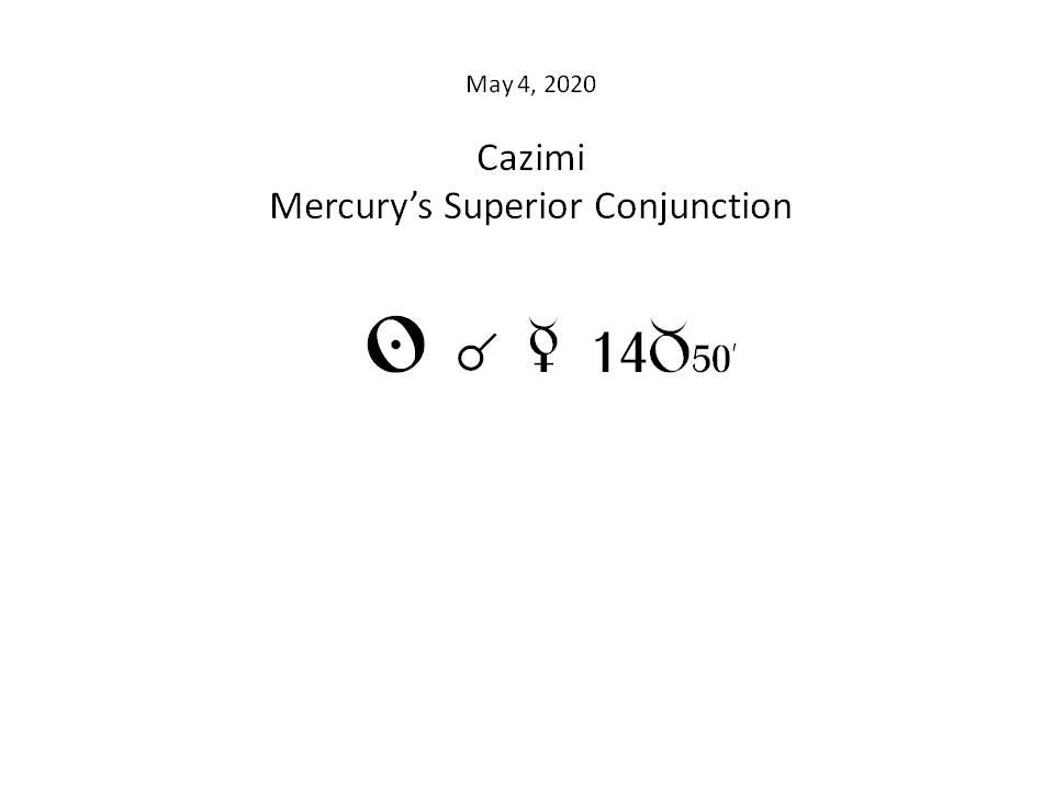 mercury cazimi